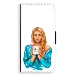 Flipové pouzdro iSaprio Coffee Now Zrzka na mobil Huawei P20