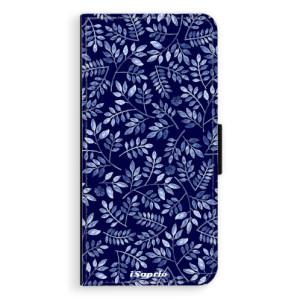 Flipové pouzdro iSaprio Blue Leaves 05 na mobil Samsung Galaxy S9