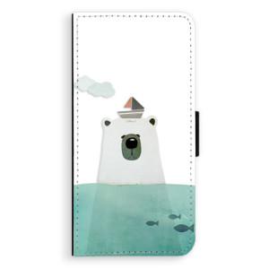Flipové pouzdro iSaprio Medvěd s Lodí na mobil Samsung Galaxy S9