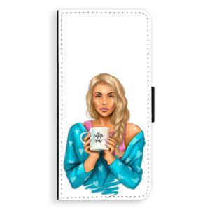 Flipové pouzdro iSaprio Coffee Now Blondýna na mobil Samsung Galaxy S9 Plus
