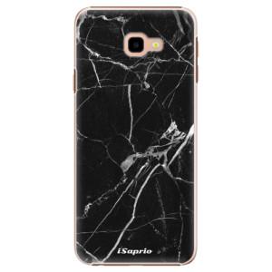 Plastové pouzdro iSaprio Black Marble 18 na mobil Samsung Galaxy J4 Plus