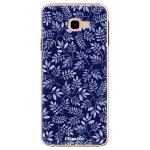 Plastové pouzdro iSaprio Blue Leaves 05 na mobil Samsung Galaxy J4 Plus