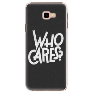 Plastové pouzdro iSaprio Who Cares na mobil Samsung Galaxy J4 Plus