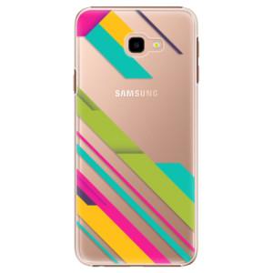 Plastové pouzdro iSaprio Barevné Pruhy 03 na mobil Samsung Galaxy J4 Plus