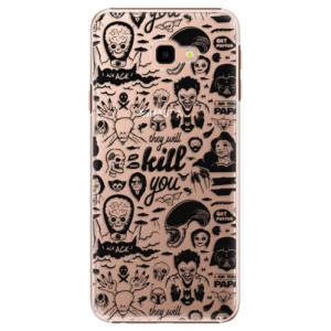 Plastové pouzdro iSaprio Komiks 01 black na mobil Samsung Galaxy J4 Plus