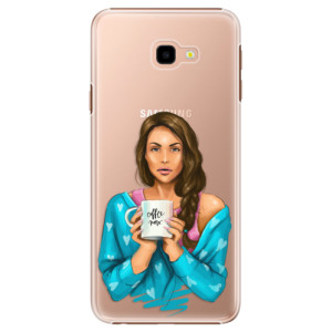 Plastové pouzdro iSaprio Coffee Now Brunetka na mobil Samsung Galaxy J4 Plus