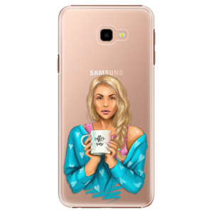 Plastové pouzdro iSaprio Coffee Now Blondýna na mobil Samsung Galaxy J4 Plus
