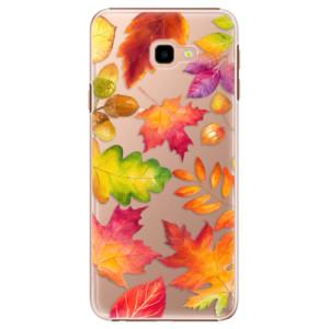 Plastové pouzdro iSaprio Podzimní Lístečky na mobil Samsung Galaxy J4 Plus