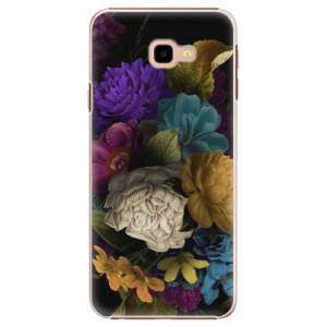 Plastové pouzdro iSaprio Temné Květy na mobil Samsung Galaxy J4 Plus