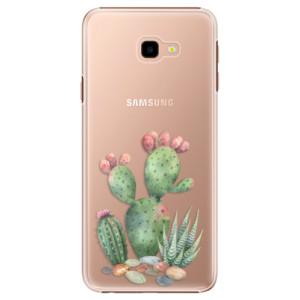 Plastové pouzdro iSaprio Kaktusy 01 na mobil Samsung Galaxy J4 Plus