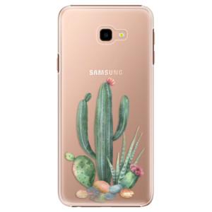 Plastové pouzdro iSaprio Kaktusy 02 na mobil Samsung Galaxy J4 Plus