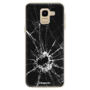 Plastové pouzdro iSaprio Broken Glass 10 na mobil Samsung Galaxy J6
