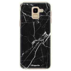 Plastové pouzdro iSaprio Black Marble 18 na mobil Samsung Galaxy J6