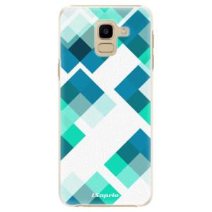 Plastové pouzdro iSaprio Abstract Squares 11 na mobil Samsung Galaxy J6