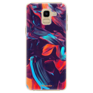 Plastové pouzdro iSaprio Barevný mramor 19 na mobil Samsung Galaxy J6
