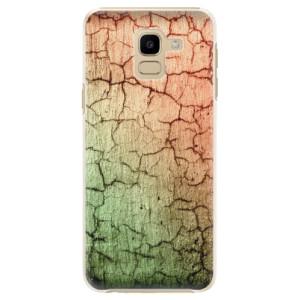 Plastové pouzdro iSaprio Rozpraskaná Zeď 01 na mobil Samsung Galaxy J6