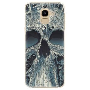 Plastové pouzdro iSaprio Abstract Skull na mobil Samsung Galaxy J6