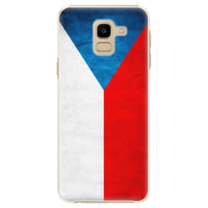 Plastové pouzdro iSaprio Česká Vlajka na mobil Samsung Galaxy J6