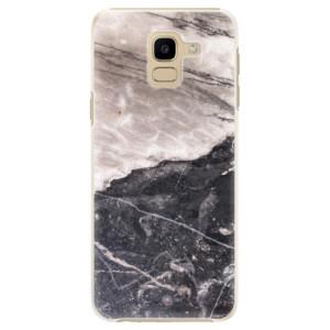 Plastové pouzdro iSaprio BW Mramor na mobil Samsung Galaxy J6