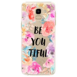 Plastové pouzdro iSaprio BeYouTiful na mobil Samsung Galaxy J6