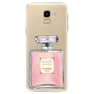 Plastové pouzdro iSaprio Chanel Rose na mobil Samsung Galaxy J6