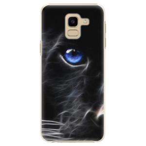Plastové pouzdro iSaprio Black Puma na mobil Samsung Galaxy J6