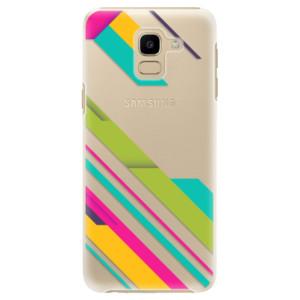 Plastové pouzdro iSaprio Barevné Pruhy 03 na mobil Samsung Galaxy J6