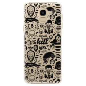 Plastové pouzdro iSaprio Komiks 01 black na mobil Samsung Galaxy J6