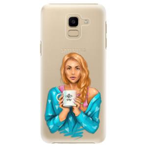Plastové pouzdro iSaprio Coffee Now Zrzka na mobil Samsung Galaxy J6