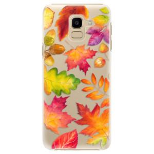 Plastové pouzdro iSaprio Podzimní Lístečky na mobil Samsung Galaxy J6