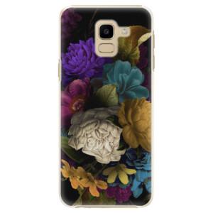 Plastové pouzdro iSaprio Temné Květy na mobil Samsung Galaxy J6