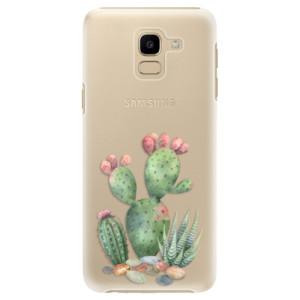 Plastové pouzdro iSaprio Kaktusy 01 na mobil Samsung Galaxy J6