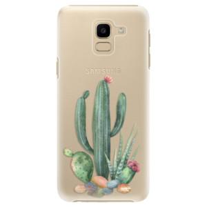 Plastové pouzdro iSaprio Kaktusy 02 na mobil Samsung Galaxy J6