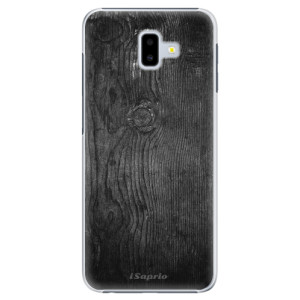 Plastové pouzdro iSaprio Black Wood 13 na mobil Samsung Galaxy J6 Plus