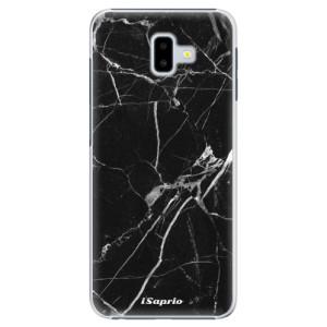 Plastové pouzdro iSaprio Black Marble 18 na mobil Samsung Galaxy J6 Plus