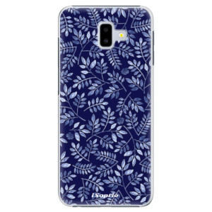 Plastové pouzdro iSaprio Blue Leaves 05 na mobil Samsung Galaxy J6 Plus