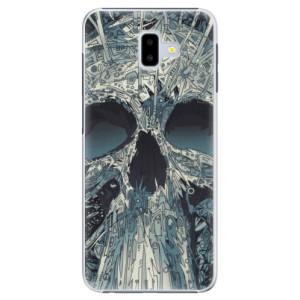 Plastové pouzdro iSaprio Abstract Skull na mobil Samsung Galaxy J6 Plus