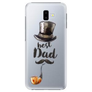 Plastové pouzdro iSaprio Best Dad na mobil Samsung Galaxy J6 Plus