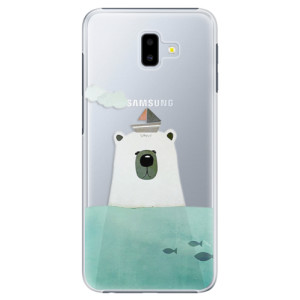 Plastové pouzdro iSaprio Medvěd s Lodí na mobil Samsung Galaxy J6 Plus