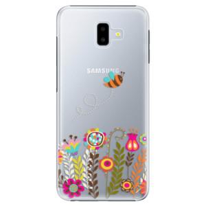 Plastové pouzdro iSaprio Včelka Pája 01 na mobil Samsung Galaxy J6 Plus