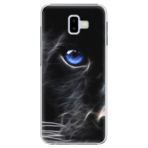 Plastové pouzdro iSaprio Black Puma na mobil Samsung Galaxy J6 Plus