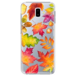 Plastové pouzdro iSaprio Podzimní Lístečky na mobil Samsung Galaxy J6 Plus