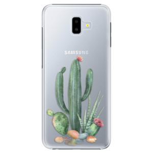 Plastové pouzdro iSaprio Kaktusy 02 na mobil Samsung Galaxy J6 Plus