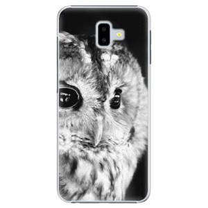 Plastové pouzdro iSaprio BW Sova na mobil Samsung Galaxy J6 Plus