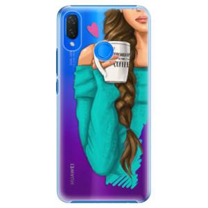 Plastové pouzdro iSaprio Brunetka s kafčem na mobil Huawei Nova 3i