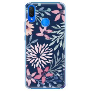 Plastové pouzdro iSaprio Kvítky na Modré na mobil Huawei Nova 3i