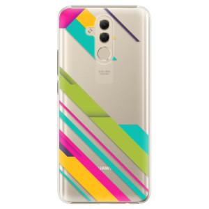 Plastové pouzdro iSaprio Barevné Pruhy 03 na mobil Huawei Mate 20 Lite