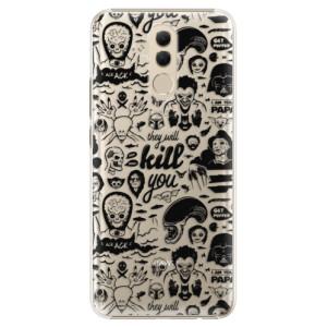 Plastové pouzdro iSaprio Komiks 01 black na mobil Huawei Mate 20 Lite