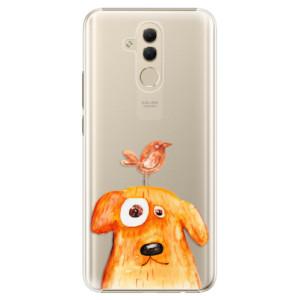 Plastové pouzdro iSaprio Pejsek a Ptáček na mobil Huawei Mate 20 Lite