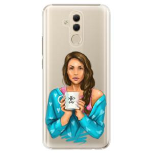 Plastové pouzdro iSaprio Coffee Now Brunetka na mobil Huawei Mate 20 Lite